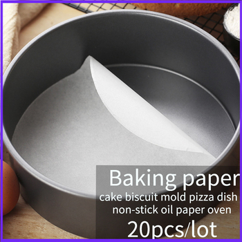 Baking Paper Parchment Paper Liners for Round Sheets Pan BBQ Paper pad non-stick oil paper oven cake baking mat 20pcs/Set image