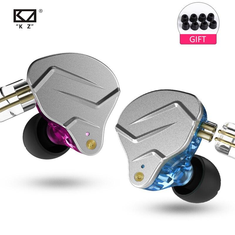 Novo kz zsn pro 1ba + 1dd kz híbrido fone de ouvido alta fidelidade fones no monitor fones para kz zs10 as10 zst