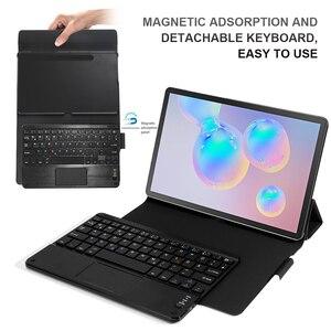 Image 3 - Para samsung galaxy tab s6 10.5 2019 caso com teclado touchpad tablet destacável caso de teclado bluetooth para galaxy tab s6 10.5