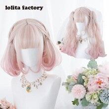 Принцесса сладкий японский парик Лолиты Лолита парик Вишневый цветок слоеного окрашенные парик с двойным тигром рот зажимы