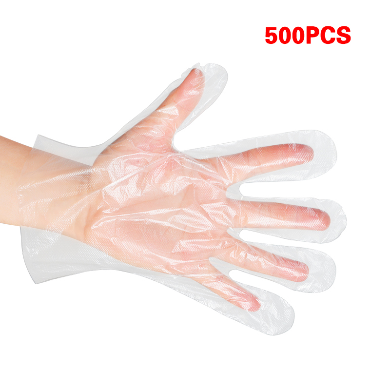 1000 Pcs Disposable Plastic Gloves - Latex Free Powder Free Clear Polyethylene Gloves Non-Sterile For Cleaning/Cooking