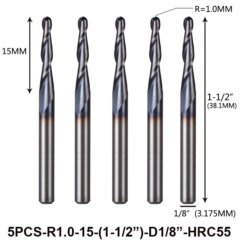 1 SET cutting lathe tools bits radius turning solid carbide insert ballnose