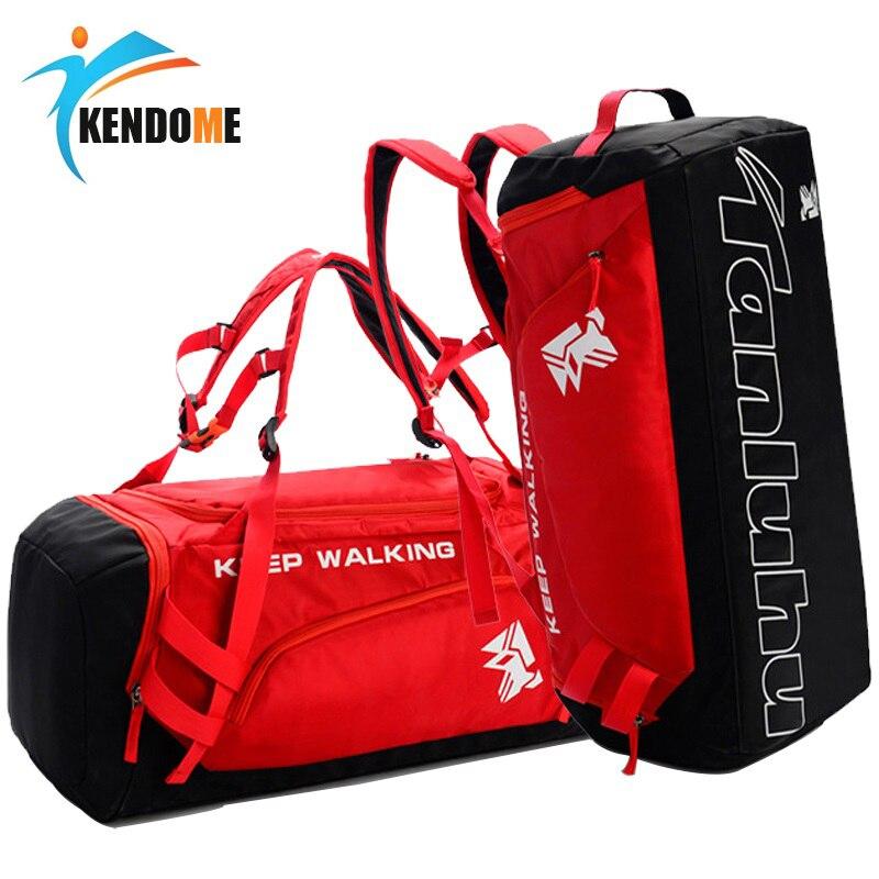 Bolsa de gimnasio de gran capacidad para adiestramiento al aire libre, bolsa de deporte impermeable, bolsa de Fitness para hombres y mujeres, bolso de viaje multifunción para Yoga