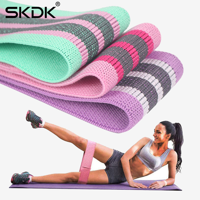 Fabric Resistance Band Exercise Workout Fitness Training Band Hip Circle Loop Band Legs Thigh Glute Butt Squat Yoga Elastic Band