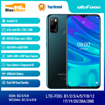 "Ulefone-Smartphone Note 9P con Android 10,0, 6,52 "", 720X160, pantalla HD, Octa Core, MTK6762, Triple Cámara, 4500mAh"