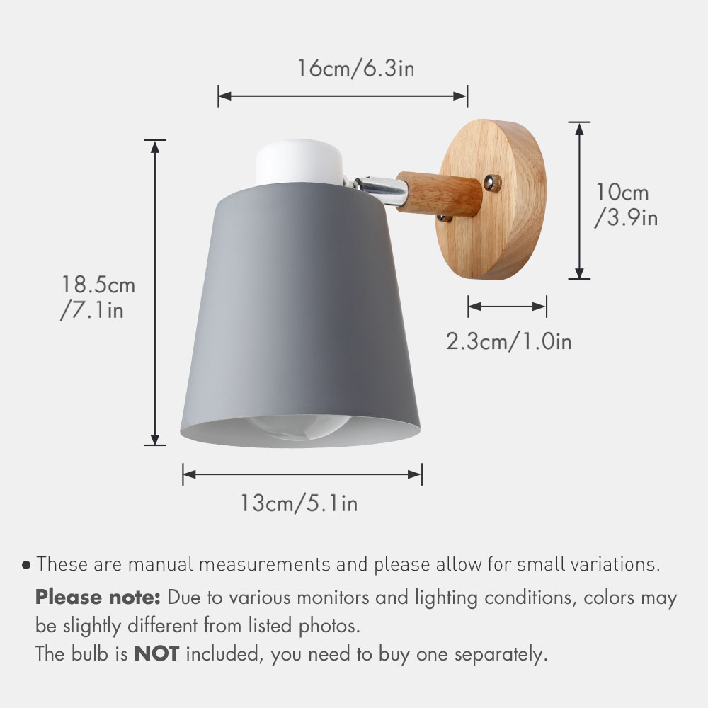 Wall Lamps With Switch Bedside Wall Light Modern Wall Sconce Nordic For Bedroom Macaroon 6 Color Steering Head E27 85-285V 4