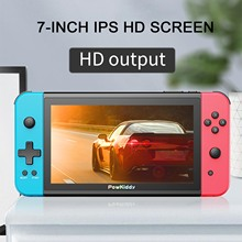 Powkiddy X2 New Retro Video Handheld Game Console 7inch IPS Screen with 32G TF Card Built in 2500 Games Support HD 3.5mm Output