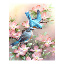 Robin bird Flower Diamond Painting animal floral Round Full Drill 5D Nouveaute DIY Mosaic Embroidery Cross Stitch home decor