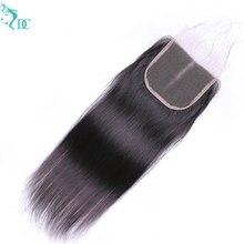 Fechamento reto do cabelo humano 4x4 fechamento do laço pré arrancado com o cabelo do bebê natural linha fina brasileiro remy fechamento do cabelo humano