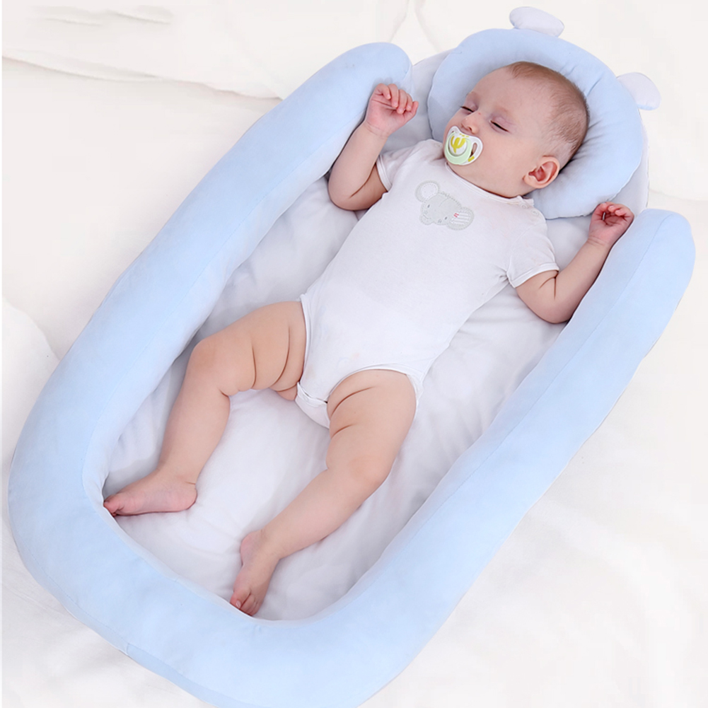 87*45*8cm Baby Infant Bed Nest Baby Cribs Portable Newborn Travel Safe Sleep Pad Bed Cotton Cradle Baby Bedding Bumper
