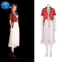 Manluyunxiao Aerith Cosplay Final Fantasy VII Gainsborough Masquerade Party Outfit Halloween Costume for Womens Girl Customize