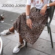 Leopardo Vintage faldas estampadas plisadas mujeres Punk Rock coreano falda Streetwear cordón cintura elástica señoras Midi falda nuevo