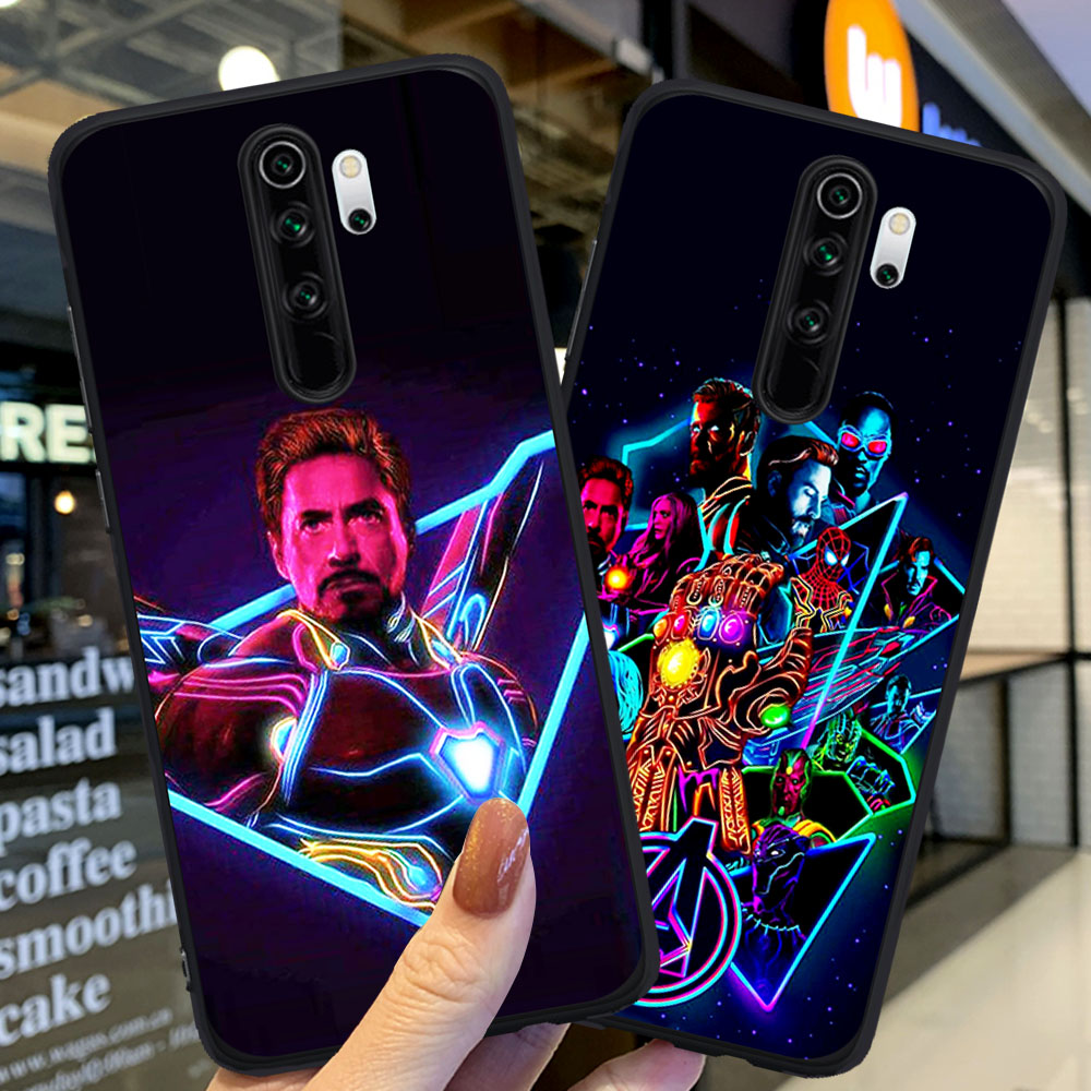 Luxury Marvel Avengers Heroes Deadpool Case For Coque Xiaomi Redmi Note 5 6 Pro 7 8 8 Pro Mi 9T Pro K20 Pro Coque Back Case
