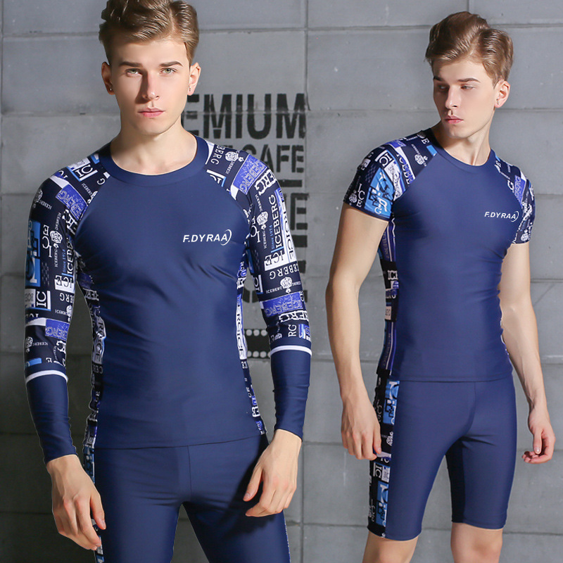 New Style Men Swimsuit Adult Split Type Casual Swimming Diving Suit Hot Springs Short AussieBum Quick-Dry