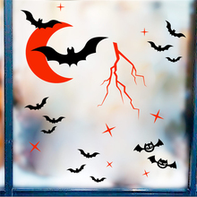 Get more info on the cartoon bat red moon wall decals kids rooms home decor halloween fantasy wall stickers vinyl mural art diy wallpaper