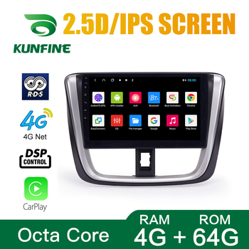 Octa Core 1024*600 Android 8.1 Car DVD GPS Navigation Player Deckless Car Stereo For Toyota Vios 2017 Radio Headunit image