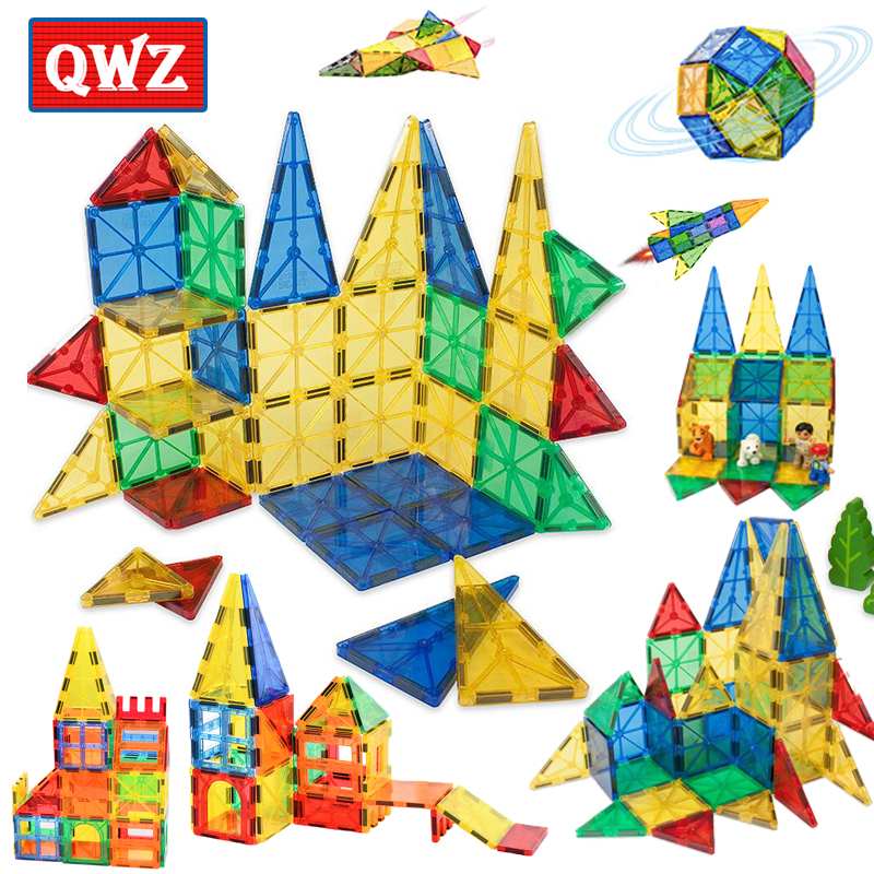 32 Piece Clear Tile Magnetic Puzzle Toys For Children Infant Hands-on Toys With Magnetic Mttraction Magnetic Building