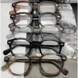 Image 5 - Round Acetate spectacle Vintage Retro Johnny Depp Style Clear myopia optical frame Glasses Men Women prescription Optic Frame