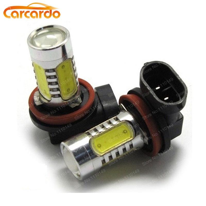 Carcardo 1 pár 7.5W H11 ködlámpa izzó LED Autós fényszóró - Autó világítás - Fénykép 1