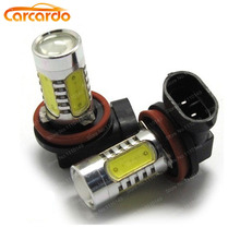 Carcardo 1 pair 7.5W H11 foglight bulb LED Car Headlight 7.5W H11 auto car foglamp high power Free shipping