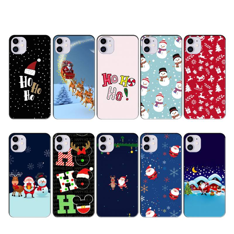 snowman christmas phone case for iphone x christmas iphone case for iphone 11 PRO MAX XS XR 4S 5S 6S 7 8 PLUS SE 2020 cover