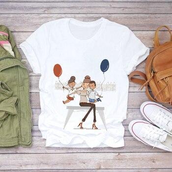 Women Cartoon Super Mom Life Momlife Summer Print Lady T-shirts Top T Shirt Ladies Womens Graphic Female Tee T-Shirt 23