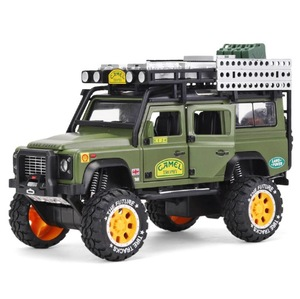 Image 5 - 1:28 Alloy Diecast Speelgoed Auto Model Kameel Defender Metalen Speelgoed Voertuigen Trofee Pull Back Geluid Licht Collectie Voor Kinderen Geschenken