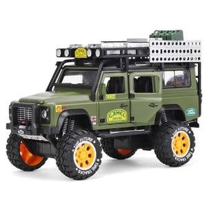 Image 5 - 1:28 סגסוגת Diecast דגם מכונית צעצוע גמל Defender מתכת צעצועי כלי רכב גביע למשוך חזרה צליל אור אוסף לילדים מתנות
