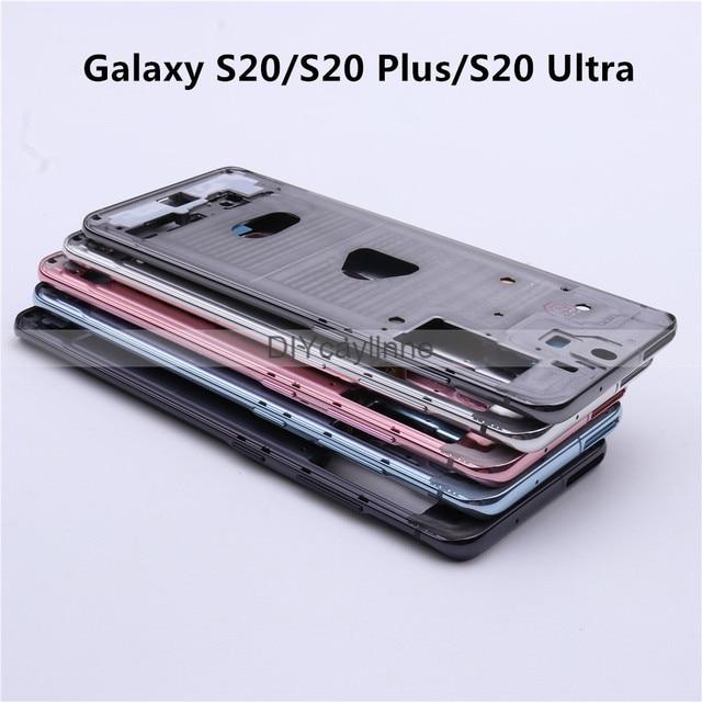 חדש אמצע מסגרת דיור לסמסונג גלקסי S20 בתוספת/S20 Ultra LCD קדמי מסגרת מארז עם חלקים קטנים + צד כפתור תיקון