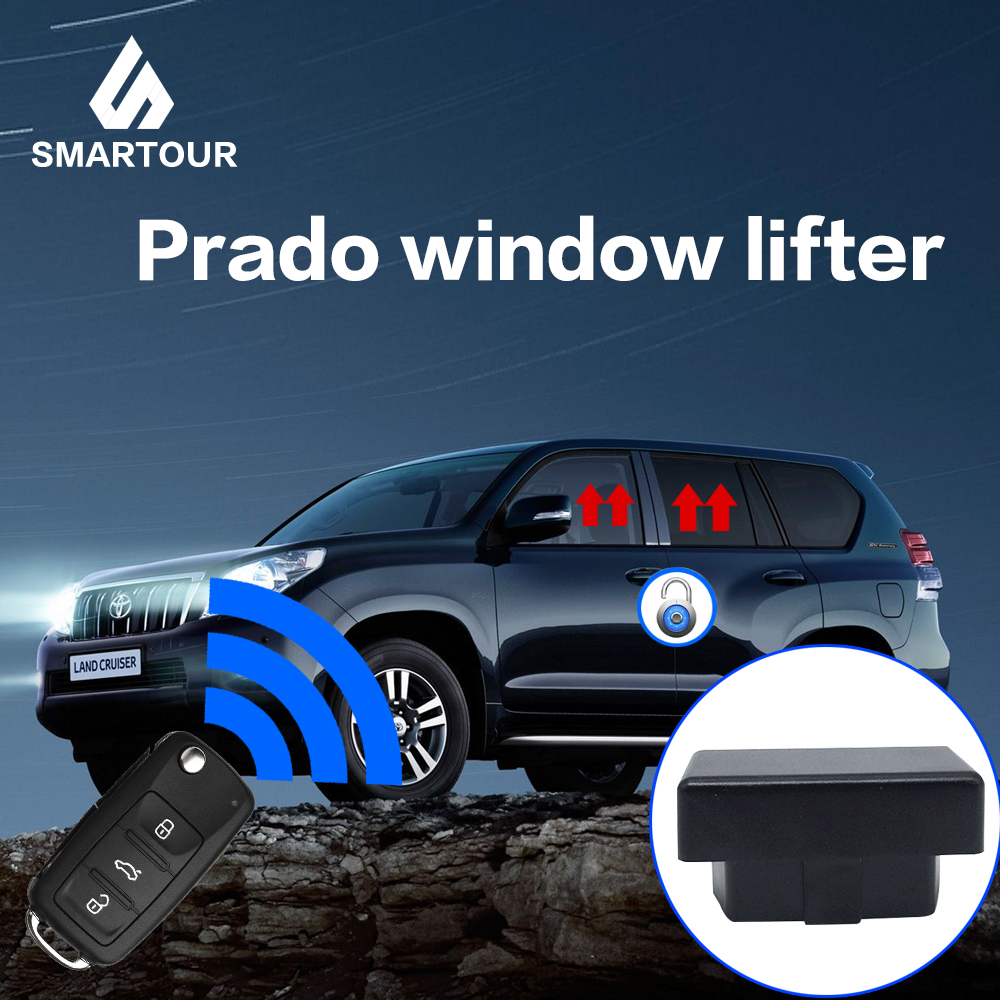 Smartour OBD Safety Auto Window Closer Controller For Land Cruiser/Prado 2010-2015 Windows Closing/car Door Locking
