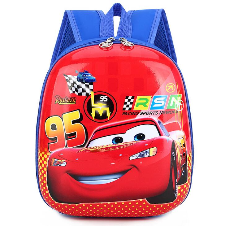 Disney Children's Cartoon Frozen Elsa Anna Backpack For Girls Spiderman Car Boys Pattern Bag Kindergarten Schoolbag Cute