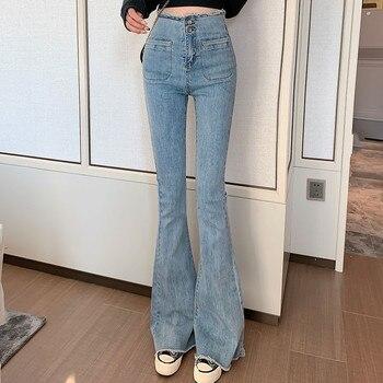 Skinny Boyfriend Bell Bottom Denim Pants Femal Casual slim waist Push up hip Jeans Vintage Plus Size High Waist Flare Jean Woman