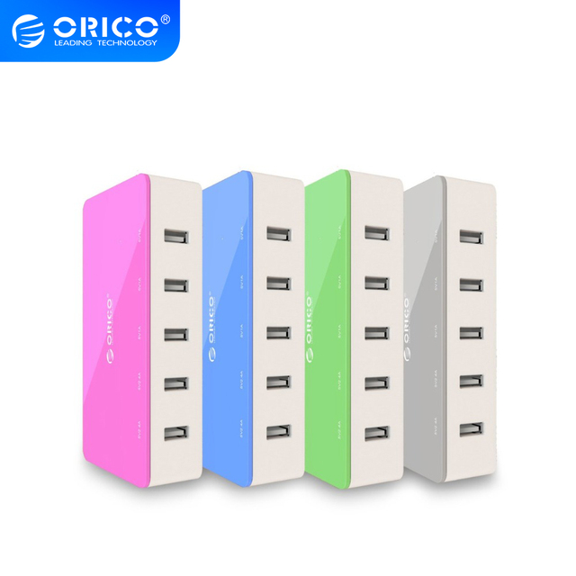 ORICO 5 Port Desktop Caricabatteria Da Viaggio USB Adattatore del Caricatore di Ricarica Veloce Per Smartphone 4 Colori Intelligente Presa di Potere Del Caricatore
