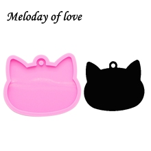 Cat-Head-Mold Silicone-Mould Jewellery-Making Epoxy-Resin for Pet-Necklace DY0089 Glossy