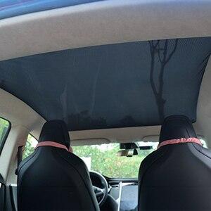 Image 1 - Für Tesla Model S Sonnenschirm Faltbare Mesh Schiebedach Sonnencreme UV Isolierung Schatten Geändert Auto Regenschirm Auto Dekoration Zubehör