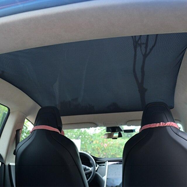 Für Tesla Model S Sonnenschirm Faltbare Mesh Schiebedach Sonnencreme UV Isolierung Schatten Geändert Auto Regenschirm Auto Dekoration Zubehör