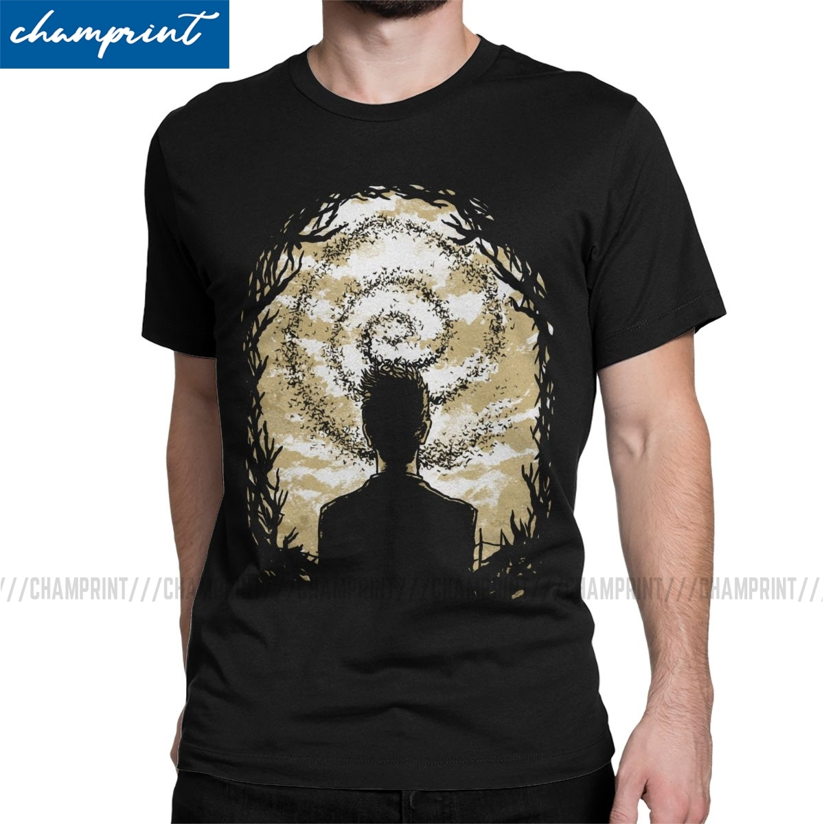 Men Carcosa's Spiral T Shirt True Detective Rust Cohle Mcconaughey TV Series 100% Cotton Clothes Novelty Tees Party T-Shirt