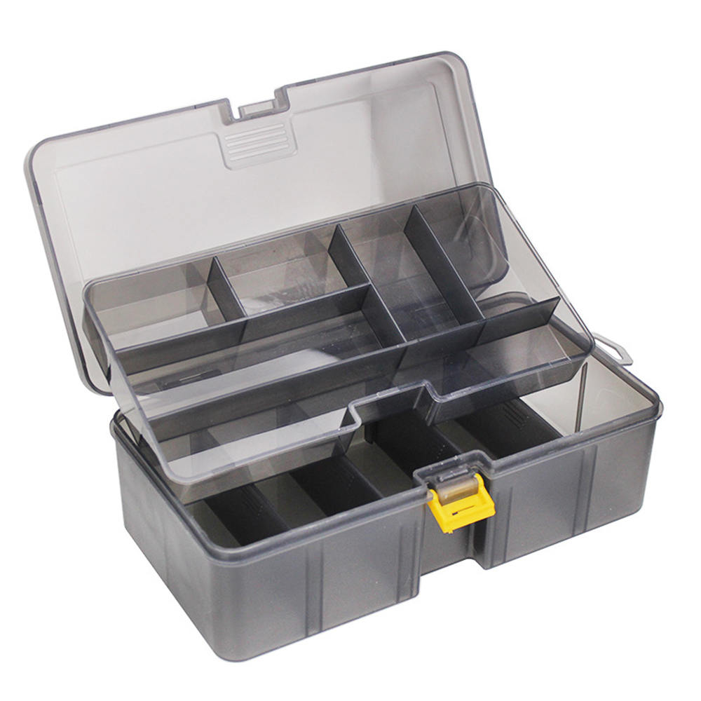 2 Layers Thicken Fishing Lure Storage Case Box Plastic Fish Lure Spoon Hook Bait Tackle Box Pesca Isca Fishhook Box|Fishing Tackle Boxes|   - title=