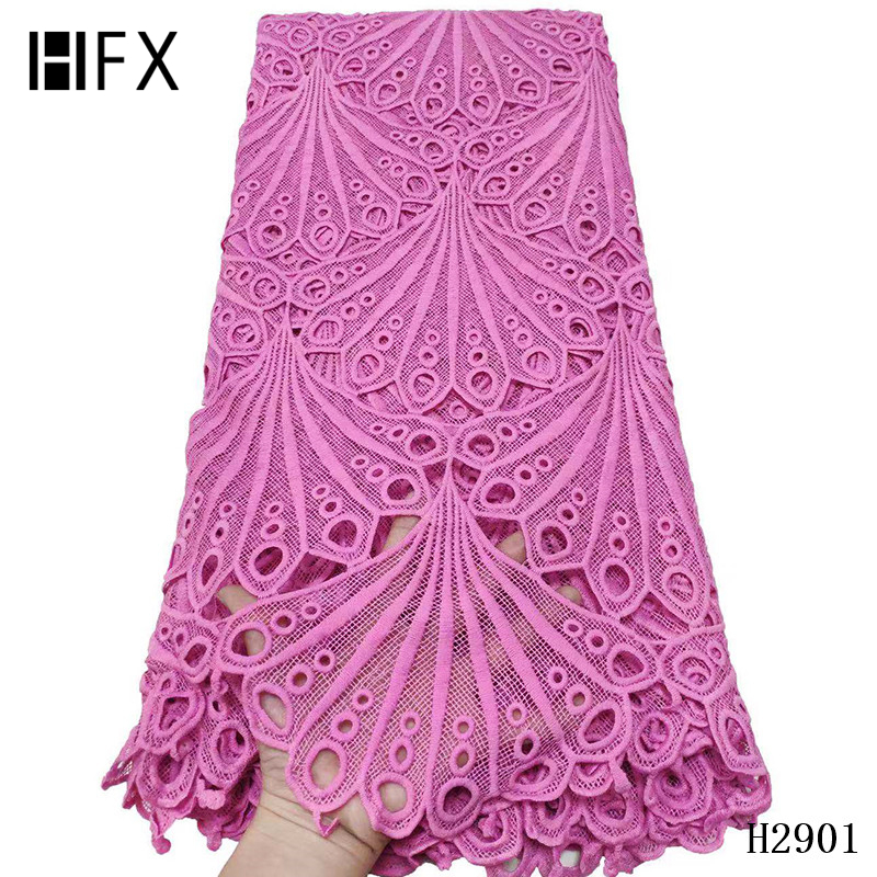 Image 5 - HFX 2019 latest african guipure lace white water soluble chemical lace fabric,high quality african cord lace free shipping H2311-in Lace from Home & Garden