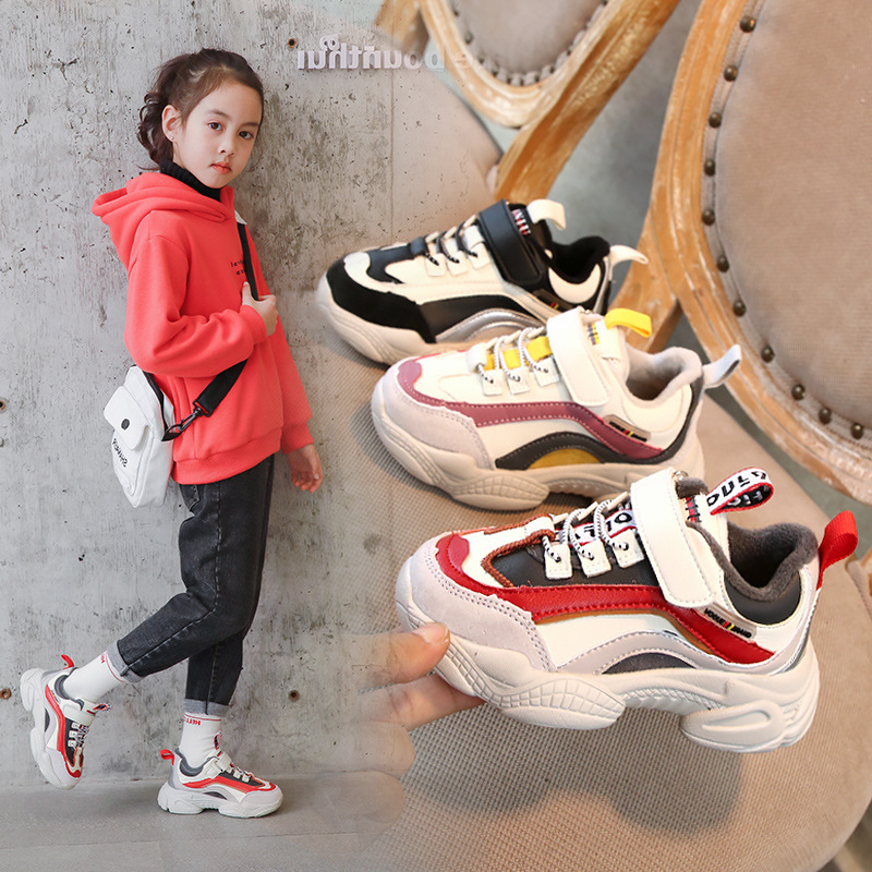 CNFSNJ Brand 2019 New Winter Autumn Children Sneakers For Girls Boys Sports Running Sole Cozy Inside Big Kids Causal Shoes