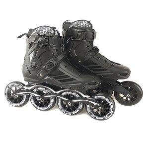 Image 3 - Tốc Độ Giày Trượt Patin Chuyên Nghiệp Nửa Giày Trượt Băng Giày 4*110/100Mm Bánh Xe Size 35 Đến 46 giá Rẻ Trượt Băng Rollerblade SH62