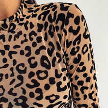 women turtleneck leopard long sleeve t shirt sexy skinny fashion tee shirts top camiseta mujer