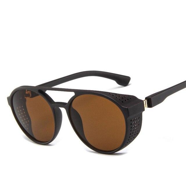 LeonLion קלאסי פאנק משקפי שמש גברים מותג מעצב משקפי שמש גברים בציר משקפיים שמש לגברים פאנק Oculos דה סול Gafas UV400 2