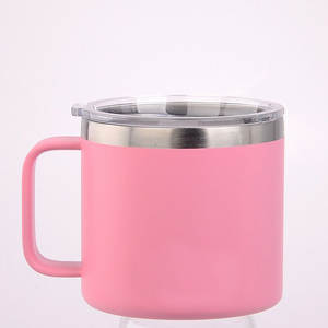 Coffee-Mug Travel-Cup Double-Wall Stainless-Steel 400ml Insulated Portable Outdoor