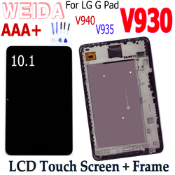 WEIDA LCD Replacement 10.1 For LG G Pad X 10.1 V930 LCD Display Touch Screen Assembly Frame V930 lcd TV101WUB-NVO