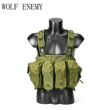 Tactical Vest Magazine Chest Rig Military Airsoft Camouflage Carrier Combat Ammo AK 47
