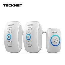 TeckNet Wireless Doorbell Cordless IP33 Waterproof EU Plug Door Bell with 32 Melodies Chime Tunes Smart Home 250m Range 100 240V