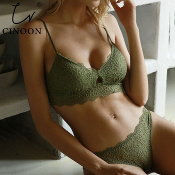 CINOON New Women's underwear Set Sexy Push-up Bra And Panty Sets Hollow Brassiere Gather Sexy Bra Embroidery Lace Lingerie Set cinoon new women s underwear set push up bra and panty sets comfortable brassiere gather sexy bra embroidery lace lingerie set