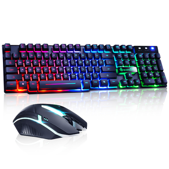 Gaming Keyboard Imitation Mechanical Keyboard Gaming USB 104 Keycaps Russian Gamer Keyboard With Backlight RGB Key Board