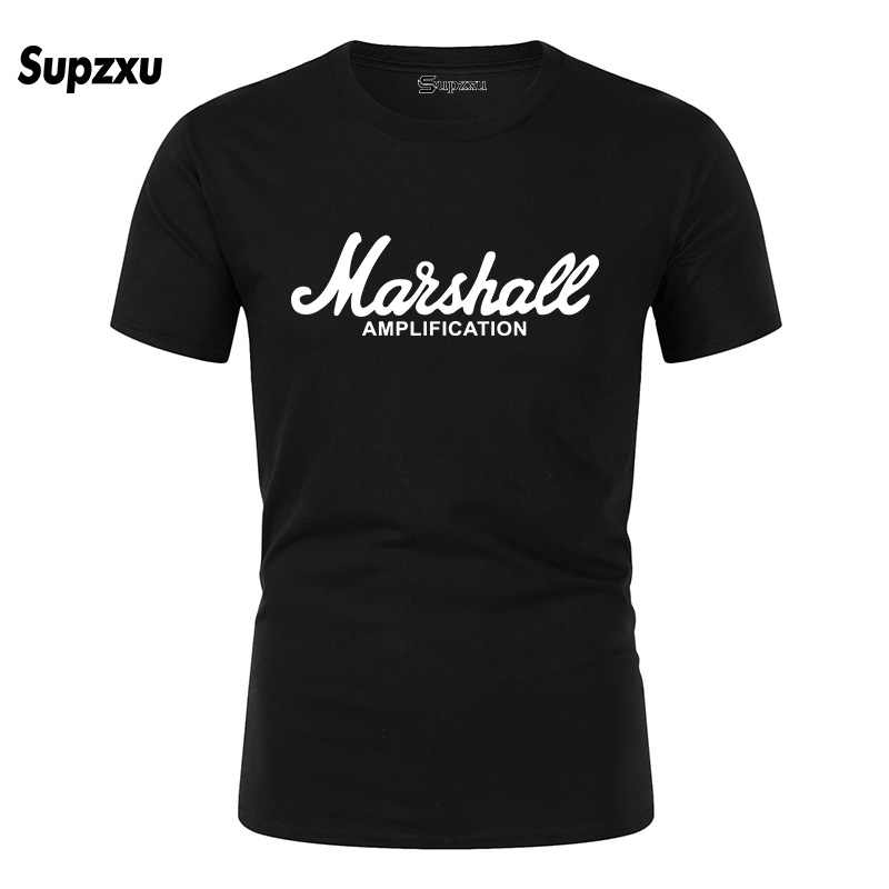 2020 Baru Marshall T Shirt Logo Amp Amply Gitar Pahlawan Hard Rock Cafe Music Muse Atasan Tee Shirt untuk Pria fashion T-shirt